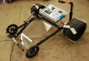Aurora Robotics' prototype for the 2015 RASC-AL Robo-Ops competition
