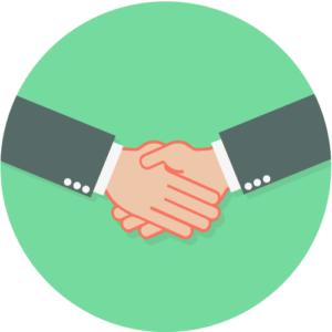 Handshake, representing trust
