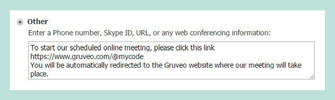 Gruveo for Schedule Once Conference Settings Other