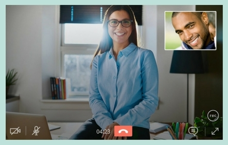 Gruveo Pro has an in-built video call recording feature.