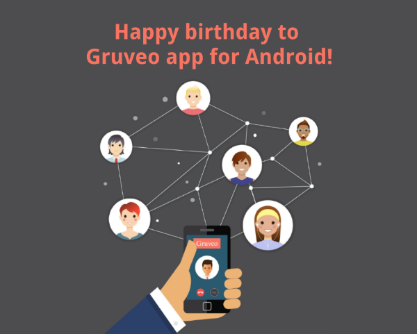 Gruveo video calling app for Android is celebrating its first birthday