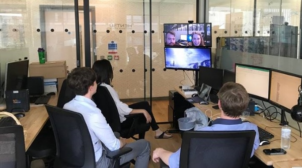 Gruveo video conferencing call - Hentsu office portal