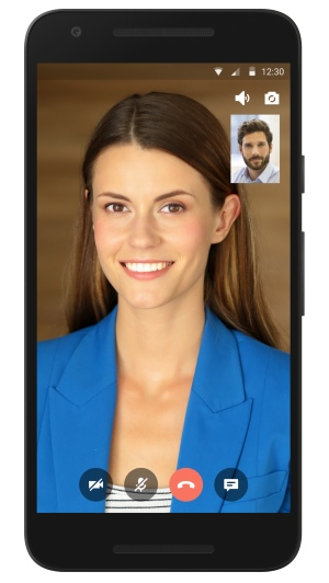 Gruveo Android SDK example - online video conferencing